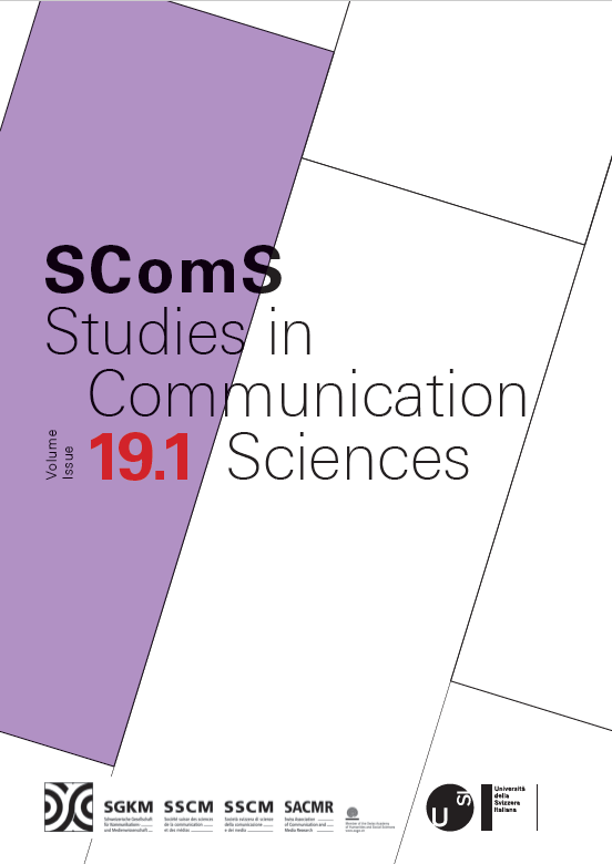 View Vol. 19 No. 1: Studies in Communication Sciences