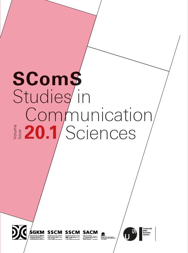 Studies in Communication Sciences, SComS, 20.1
